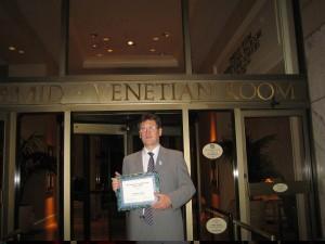 International Contributions Awards díj Dallas 2006 2.